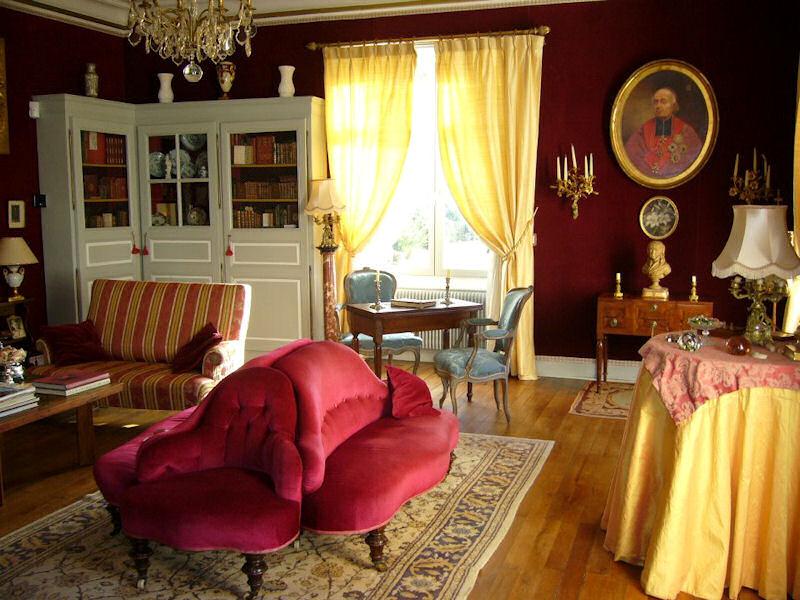 Un salon du Château de la Montchevalleraie - Aviré, Maine et Loire